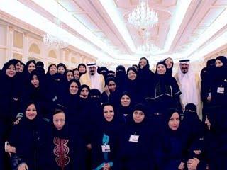 King Abdullah The Emissary Of Saudi Women Blue Abaya