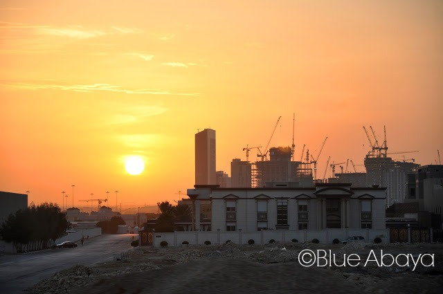 riyadh industrial city sunset