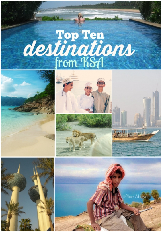 top ten escape destinations from KSA