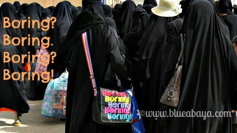 abaya saudi boring black