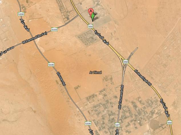 google map janadriyah location