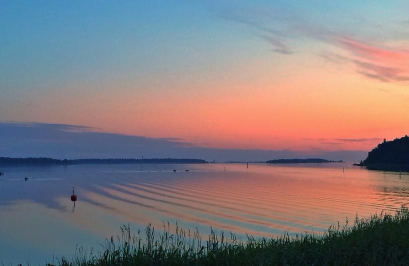 midnight sunset finland