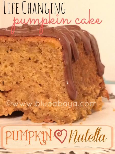 Life Changing Pumpkin-Nutella Cake
