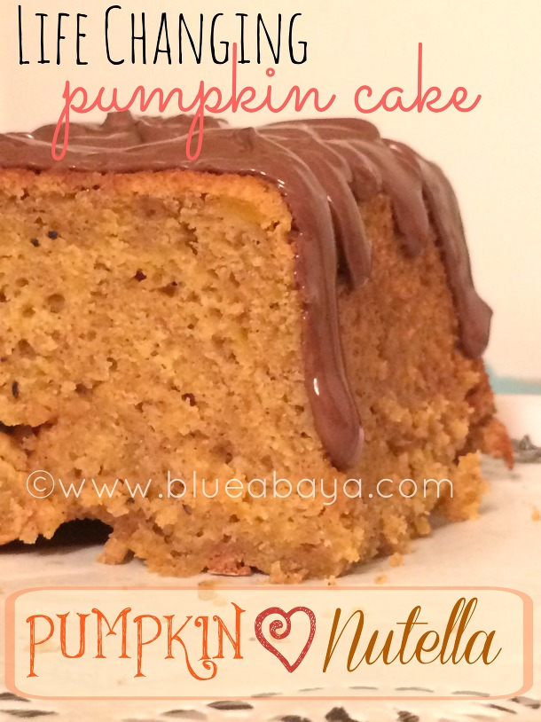 Life Changing Pumpkin-Nutella Cake