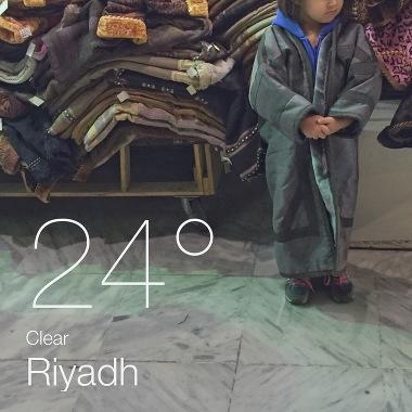 Riyadh winter coat weather