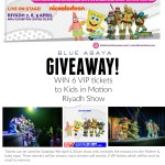 Giveaway: VIP Tickets to Kids in Motion Riyadh 2016